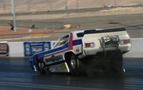 Boogeying down the Las Vegas strip in a Nitro Funny Car!