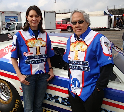 Mendy Fry and Roland Leong at the 2009 NHRA Winternationals