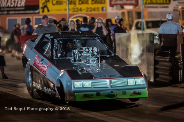 Mendy Fry launches to victory at Saturday Night Nitro. (photo by Ted Soqui)